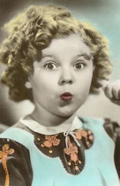 Shirley Temple, Colored Postcard, 1935.