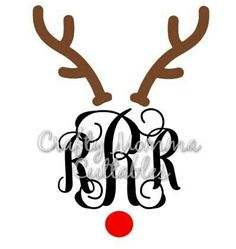 Excited to share an adorable Christmas SVG to my #etsy shop: Reindeer For Monogram SVG file // Antlers SVG // Christmas Cut File // Rudolph monogram SVG // Cut File // Silhouette File // Cutting File / #christmassvgfile #christmassvg http://etsy.me/2zmyreG
