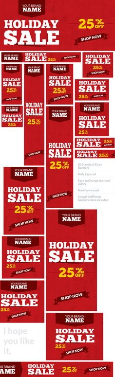 Holiday Sale Web Ad Banners - Multipurpose on Behance