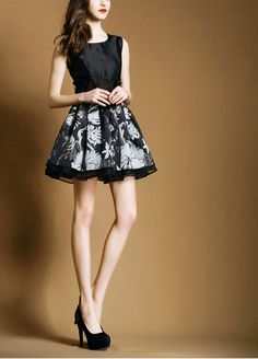 summer new elegant lace embroidered organza A-line dress printed dress
