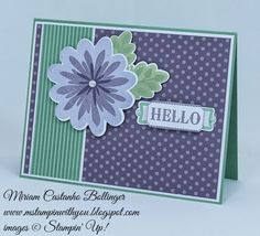 Miriam Castanho Bollinger, #mstampinwithyou, stampin up, demonstrator, rs155, all occasions card, label something, flower patch bundle, big shot, ticket duo punch, modern label punch, su