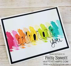 Work of Art Celebrate You card by Lani featuring Stampin' Up! Rainbow Card, Homemade Greeting Cards, Card Making Supplies, Stamping Up Cards, Color Card, Kids Cards, Your Cards, Cardmaking, Stampin Up