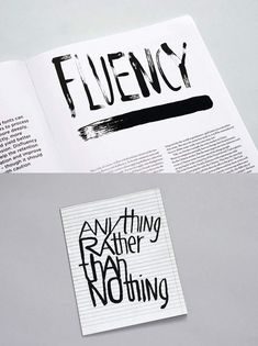 Fluency, and Anything Rather than Nothing, both by Åh studio for Viewpoint magazine