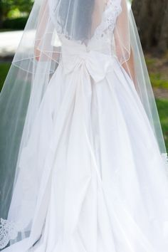 Love The Back Of This Dress And That Cathedral Length Veil