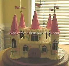 Miley's princess birthday party cake