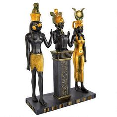 """Osiris, Isis and Horus"" Egyptian Gods Statue"