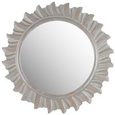 @Overstock - Safavieh By The Sea Burst Grey Mirror - Crafted to give the illusion of ocean waves, the round By the Sea mirror from Safavieh is makes a statement in a living room or hall.  http://www.overstock.com/Home-Garden/Safavieh-By-The-Sea-Burst-Grey-Mirror/8984049/product.html?CID=214117 $149.39