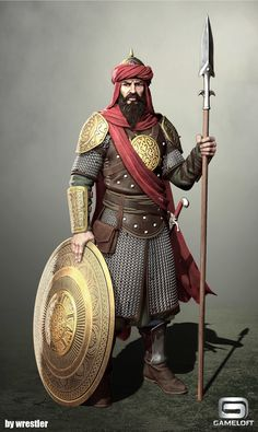 ArtStation - Arab Spearman render, Georgi Georgiev