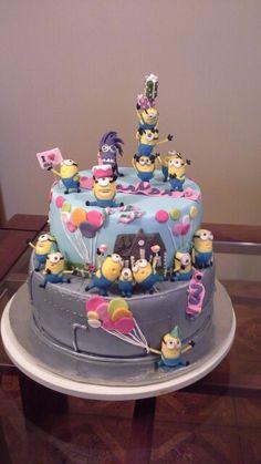 Minions cake mi version Minions, Birthday Cake, Desserts, Food, Caves, Tailgate Desserts, Birthday Cakes, Meal, The Minions