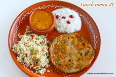 I planned to make a South Indian lunch for this week, but was running out of coconut and other stuff, so planned to make a North Indian platter with the… Veg Pulao Recipe, Missi Roti, Lunch Menu, Popular Recipes, Hummus, Good Food, Vegetables, Ethnic Recipes, Kitchen