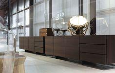Aparador moderno / de madera / de Jean-Marie Massaud PANDORA  Poliform