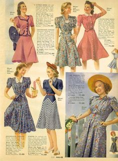 15% OFF Vintage 1940s Sears Catalog Page Women's by TheVintageRead