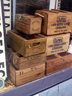 Old wood box