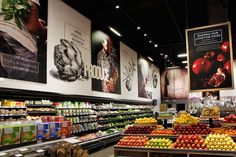 We love the enticing large scale store signage in Michael Angelo's specialty food store, Toronto – Canada Retail Store Design, Retail Shop, Retail Displays, Shop Displays, Merchandising Displays, Window Displays, Store Signage, Food Signage, Retail Signage