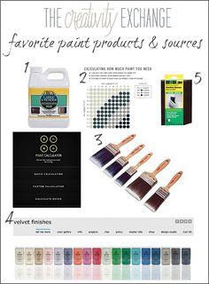 Favorite Paint Products and Sources {Paint It Monday}