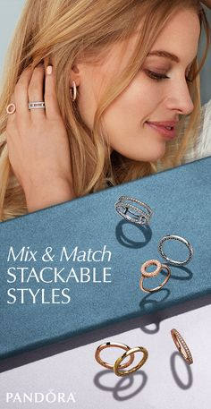 Mix up your look with metallics. Mix and match sterling silver, 14k gold and PANDORA Rose™ rings to create stackable styles that will shine all season long. Shop the NEW Autumn collection at PANDORA and DO See The Wonderful.