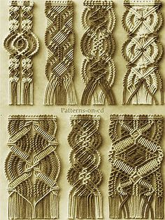 Vintage-Instruction-MACRAME-bracelet-beads-cord-weaving-Patterns-on-CD