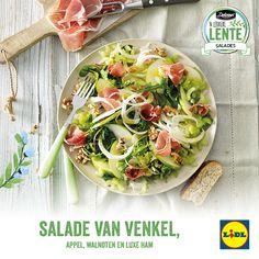 Salade van venkel, appel, walnoten en luxe ham #Lente bij #Lidl