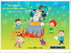 """""""La Magia de los buenos tratos"""" (Cuaderno de Educación Emocional e Identidad personal) Family Guy, Fictional Characters, Science Area, Personal Identity, Sensory Book, Teaching Resources, Teamwork, Fantasy Characters, Griffins"""