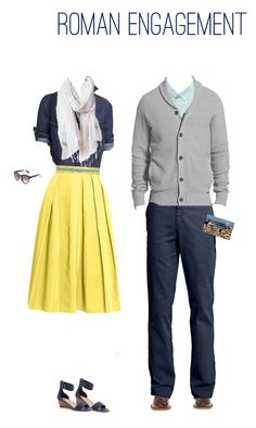 Love the whole outfit (the lady one!) but the yellow midi skirt is the best