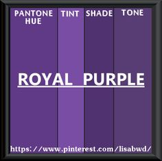 PANTONE SEASONAL COLOR SWATCH ROYAL PURPLE