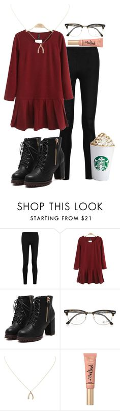 """~Your out of my league~"" by ellababy13 ❤ liked on Polyvore featuring Donna Karan, Ray-Ban, Humble Chic and Too Faced Cosmetics"