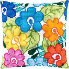 """Купить """"Летние цветы Z-45"""". Производитель: Чарівниця. Раздел: Наборы для вышивки подушек крестом/Вышивание"""