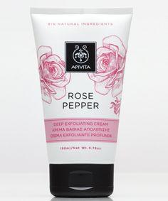Crema de exfoliación profunda de Apivita Mejora la microcirculación de tu piel y regenérala con una crema de exfoliación profunda como esta de pimienta rosa de Apivita (15 euros).