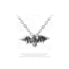 Kiss of the Night Pendant: Discreetly tokening the owner's alternative tendencies, a classic gothic image.