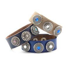 Skórzane bransoletki z wymiennymi Clixsami