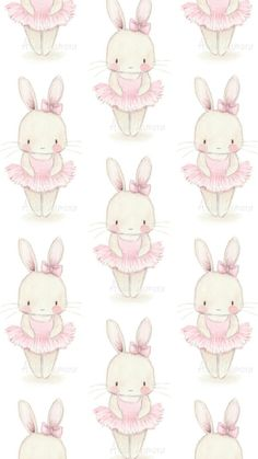 White bunny in pink tutu Bunny Drawing, Bunny Art, Cute Wallpapers, Wallpaper Backgrounds, Iphone Wallpaper, Baby Ballet, Ballerina, Easter Wallpaper, Baby Clip Art