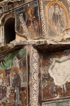 Exterior Frescos; Sumela Monastery, Trabazon, Turkey