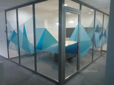 Lindorff Lietuva office in Vilnius. Glass graphics colaboration by me.