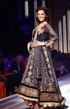 high low anarkali with beautiful embroidery