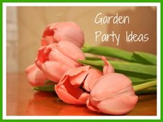 Lots of great iedas to help you plan a beautiful garden party, including suggestions for invitations, decorations, activities, favors and more.