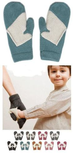 How adorable! Little mittens for holding hands! This is a much better solution than taking off my mittens to give to small children who forget (read: lose) theirs. The Mitten, Baby Kind, Baby Love, Mom Baby, My Bebe, Kind Mode, Arm Warmers, Little Ones, Knit Crochet