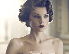 stunning vintage wedding hair + make up #weddinghair #bridalhairstyle #vintagehair
