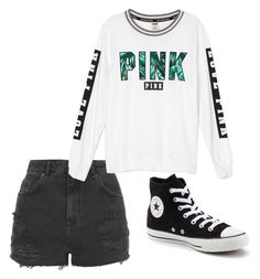 """""""Untitled #53"""" by sardine04 on Polyvore featuring Topshop, Victoria's Secret and Converse"""