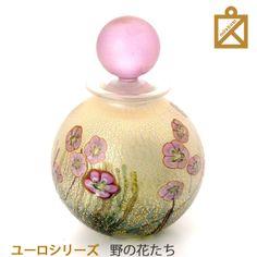 【ミニ骨壷】癒しのピンクのローズ野の花たちローズLサイズ