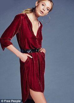 She's Got It velvet shirt dress, $228, Free People