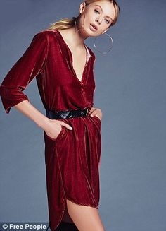 She's Got It velvet shirt dress, $228, Free People