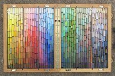 Richard McKinley pastel palette setup for studio painting