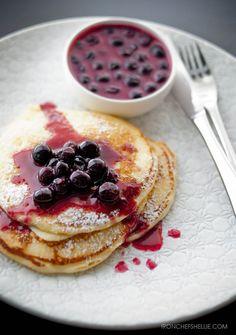 buttermilk pancakes blueberry lemon butter