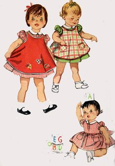 Vintage 50s Simplicity 3649 SWEETEST Toddler Dress by sandritocat