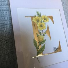O is for Olive illuminated print with hand applied gold leaf. | Etsy Floral Letters, Gold Letters, Flora Und Fauna, Calligraphy Alphabet, Gouache Painting, Beautiful Paintings, Gold Leaf, Order Prints, Giclee Print