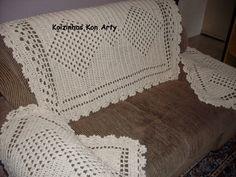 capa de braço de sofá de croche com graficos - Pesquisa Google