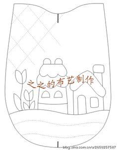 分享浪漫家园手机包的制作(含图纸和部分制作过程)
