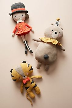 Lauvely Plush Dolls at Anthropologie Fabric Toys, Fabric Crafts, Paper Toys, Softies, Plushies, Sewing Toys, Toys Shop, Felt Toys, Plush Dolls