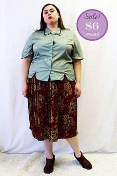 CLEARANCE  Plus Size  Vintage Olive Polka Dot by TheCurvyElle, $6.00