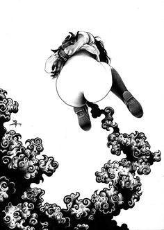 THE BALLPOINT PEN ILLUSTRATIONS OF SHOHEI OTOMO